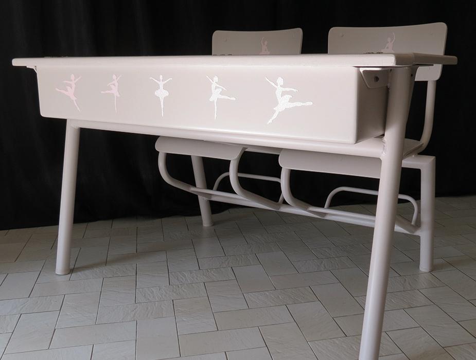 pupitre d 39 colier en bois et acier creatypic. Black Bedroom Furniture Sets. Home Design Ideas