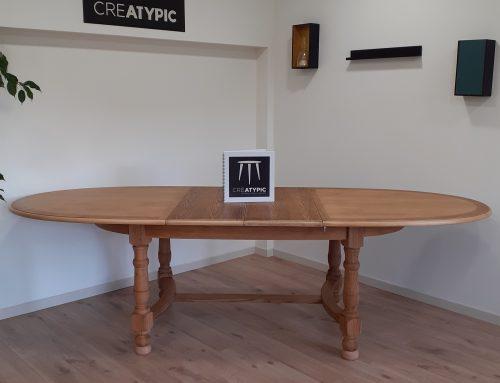 Relooking de la table en chêne « KATELL » !
